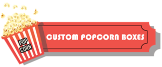 Custom Printed Popcorn Boxes | Personalised Pop Corn Bags with Logo